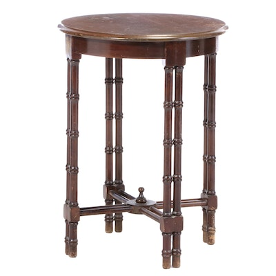 George III Style Mahogany, Mahogany-Stained, and Simulated Bamboo Side Table