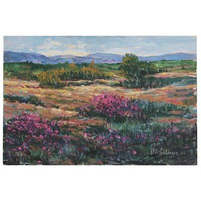 Bill Salamon Landscape Oil Painting, Late 20th Century
