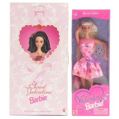 """Sweet Valentine"" and ""Valentine"" Barbies In Boxes"