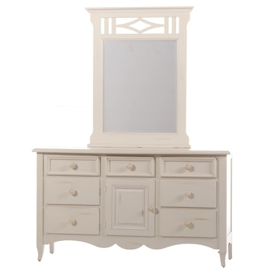 Basset Contemporary Lacquered Dresser with Mirror