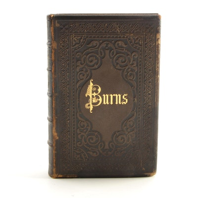 "Leather Bound ""The Works of Robert Burns Containing His Life"", circa 1800s"