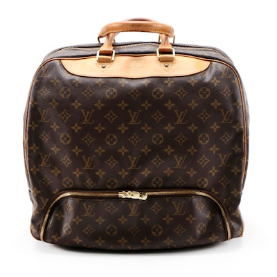Louis Vuitton Evasion Travel Bag in Monogram Canvas and Vachetta Leather