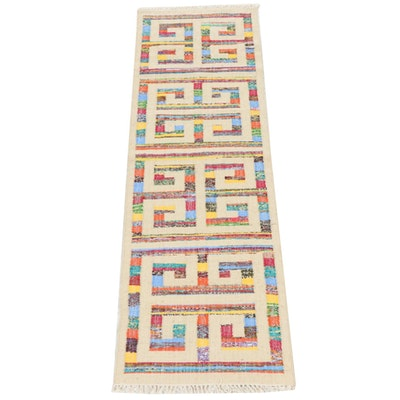 2'8 x 8'3 Handwoven Turkish Kilim Cotton and Wool Runner Rug