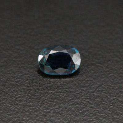 Loose 0.68 CT Oval Faceted Sapphire