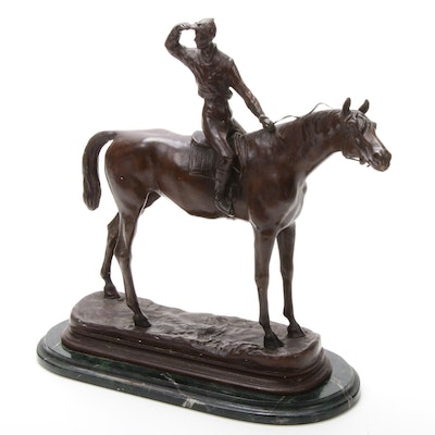 Equine Bronze Sculpture after Pierre-Jules Mêne