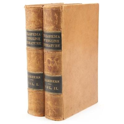 "1877 Leather Bound ""Cyclopædia of English Literature"", Two Volume Set"