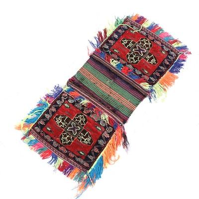 1'8 x 2'11 Handmade Afghani Tribal Saddle Bag