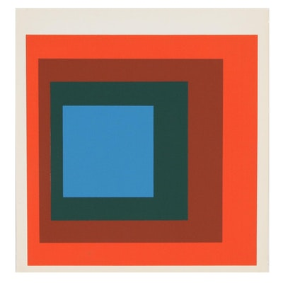 """Serigraph after Josef Albers """"Homage to the Square"""", 1977"""