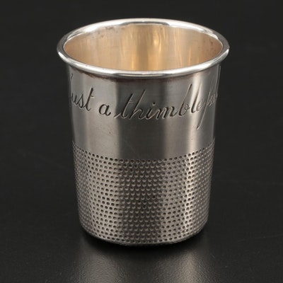 "Towle ""Just a Thimbleful"" Sterling Silver Shot Glass, Mid-20th Century"
