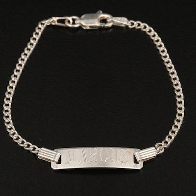 """Sterling Silver """"Marcus"""" I.D. Bracelet"""