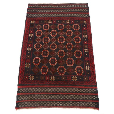 2'11 x 4'10 Hand-Knotted Afghani Tribal Baluch Rug