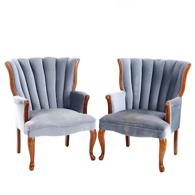 Pair of Barrel-Back Arm Chairs