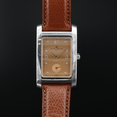 "Baume & Mercier ""Hampton"" Stainless Steel Wristwatch"