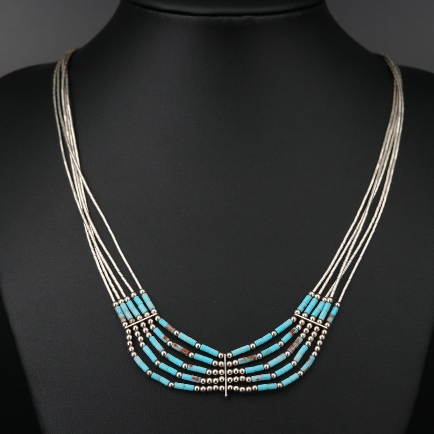 Southwestern Sterling Silver Strand Necklace