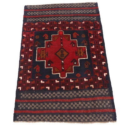 2'10 x 4'3 Hand-Knotted Afghani Tribal Baluch Rug