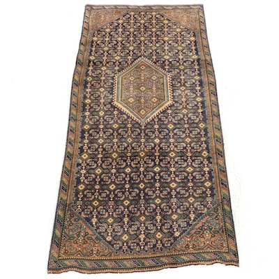 4'0 x 8'9 Hand-Knotted Persian Senneh Rug