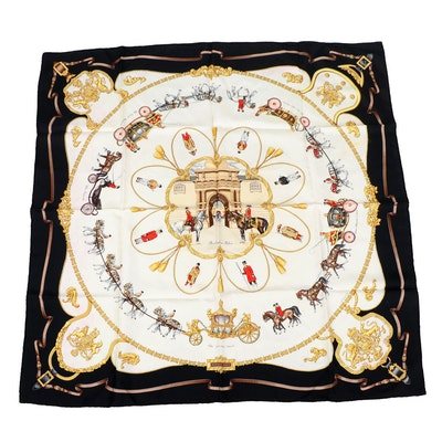 "Hermès ""The Royal Mews-Buckingham Palace"" Silk Scarf"