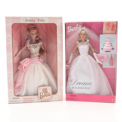 Mattel Dream Wedding and Birthday Wishes Barbie Dolls in Original Packaging