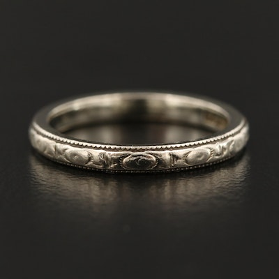 Vintage 14K White Gold Band