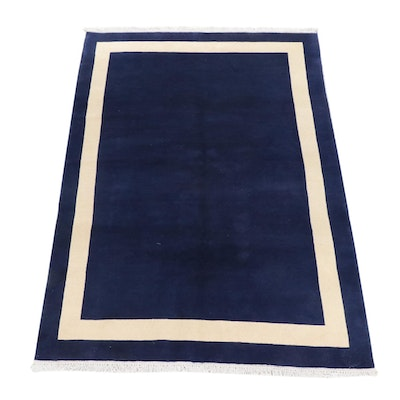 5'4 x 7'11 Hand-Knotted Indo-Nepalese Mid Century Modern Style Rug