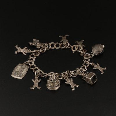 Vintage Sterling Siver Charm Bracelet