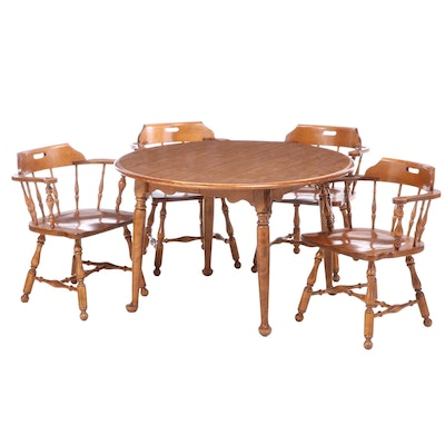Ethan Allen Colonial Style Maple Dining Set