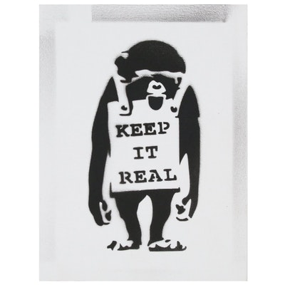"Giclée after Banksy ""Keep it Real"", 21st Century"