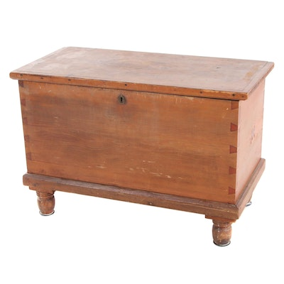 American Primitive Poplar Blanket Chest, Mid-19th Century