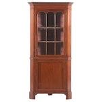 Federal Style Mahogany Corner Cabinet, 19th Century