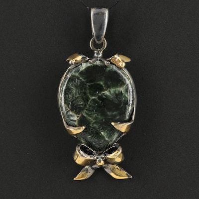 Sterling Silver Fuchsite Pendant
