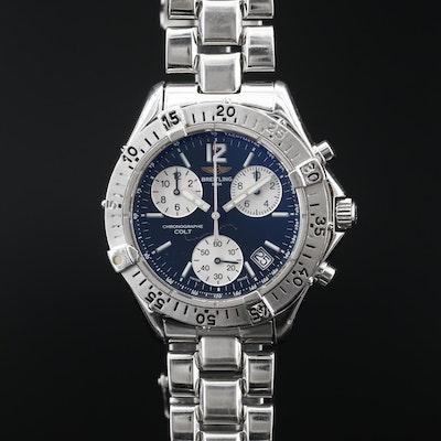 Breitling Chrono Colt Stainless Steel Quartz Wristwatch