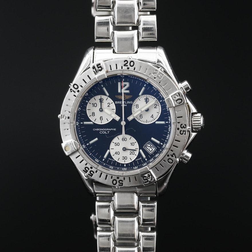 Breitling Chrono Colt Stainless Steel Quartz Wristwatch