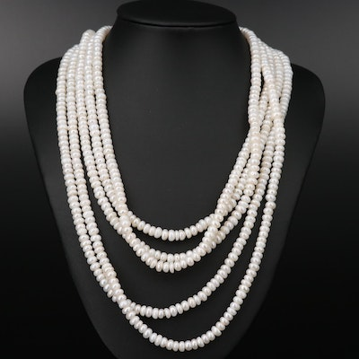 Cultured Pearl Endless Necklace