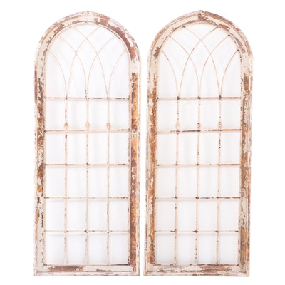 Pair of Palladian Style Window Decor Panels