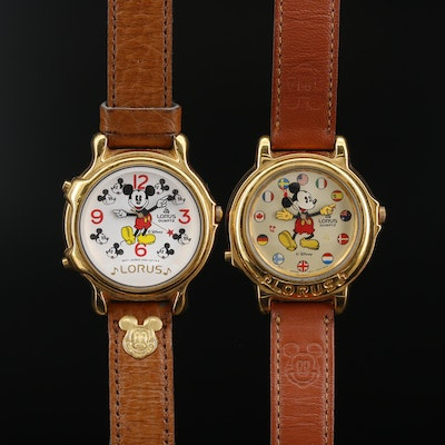 Lorus Mickey Mouse Musical Quartz Wristwatches