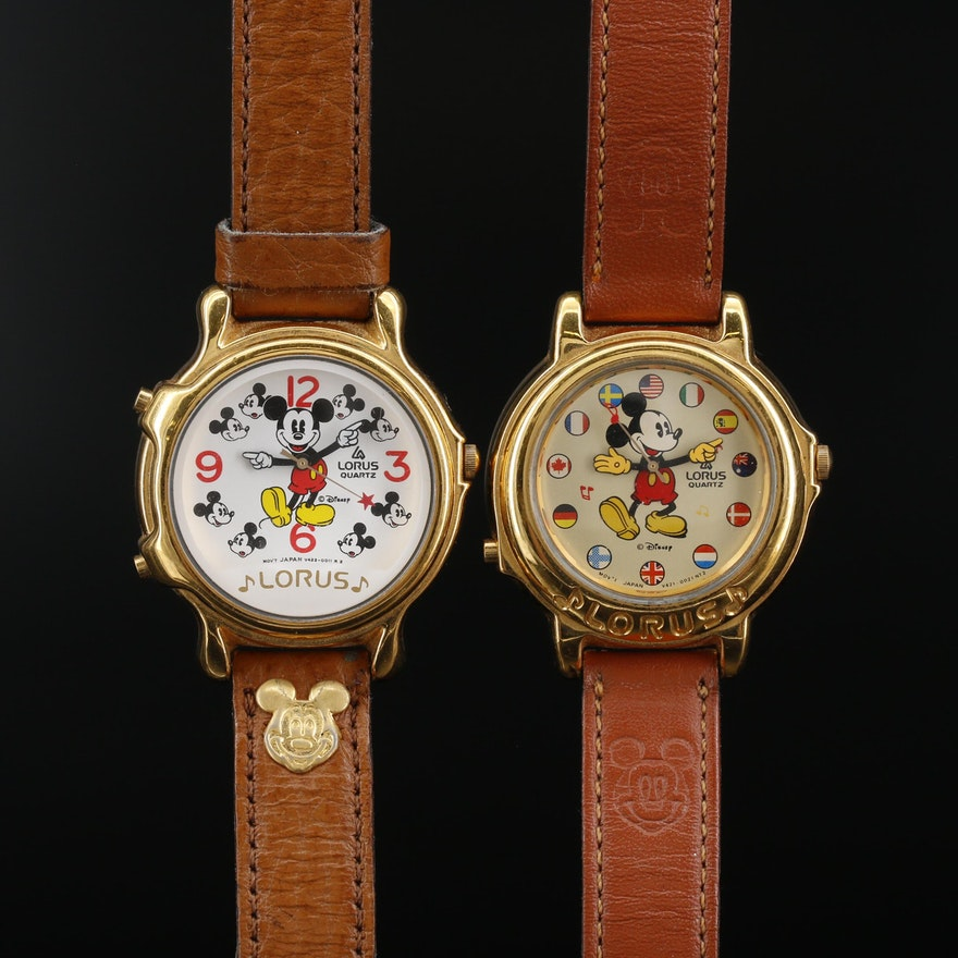 Lorus Mickey Mouse Musical Quartz Wristwatches