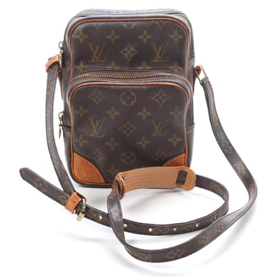 Louis Vuitton Amazone Crossbody in Monogram Canvas and Vachetta Leather