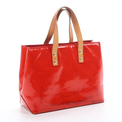 Louis Vuitton Reade PM Bag in Monogram Vernis and Vachetta Leather