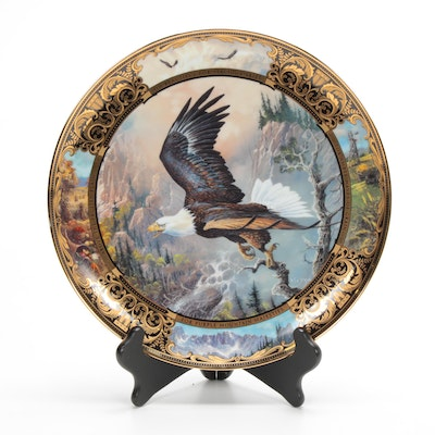 """Ted Blaylock """"Born to be Free"""" by Franklin Mint Porcelain Collectors Plate"""