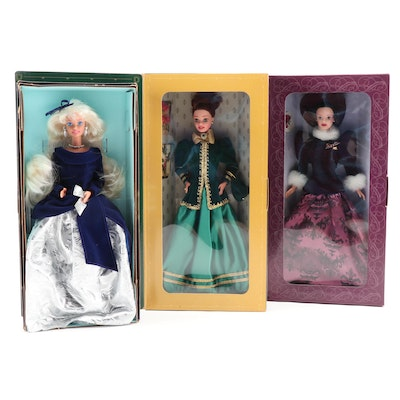 Barbie Winter and Holiday Dolls with Boxes