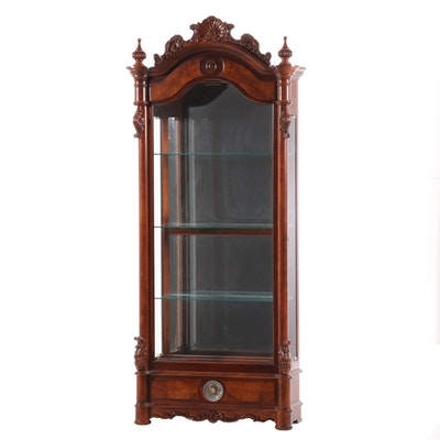 Pulaski Rococo Style Hardwood Illuminated Display Cabinet