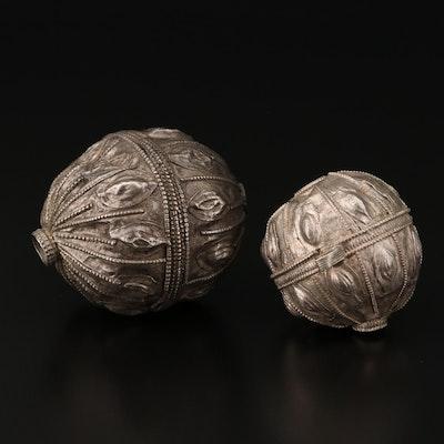 Omani Baluchi Sterling Silver Beads