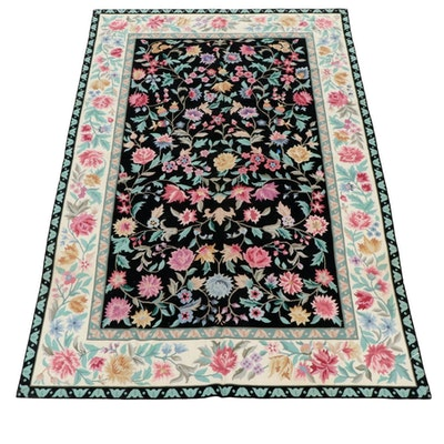 5'7 x 8'7 Handmade French Aubusson Style Needlepoint Rug