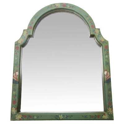 Hand-Painted Wood Wall Mirror