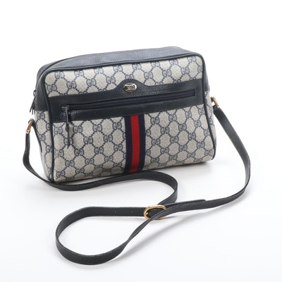 Gucci Accessory Collection Shoulder Bag in GG Supreme Canvas and Leather