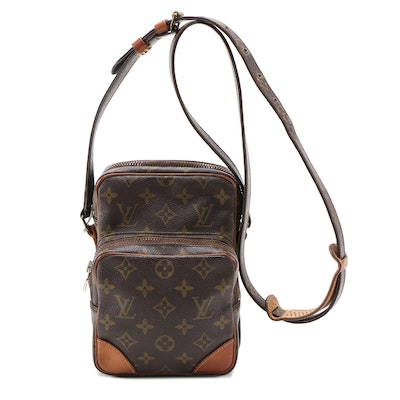 Louis Vuitton Amazone Crossbody Bag in Monogram Canvas and Vachetta Leather