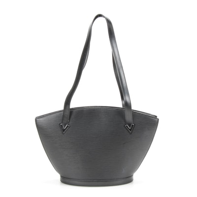 Louis Vuitton St. Jacques PM Handbag in Black Epi Leather