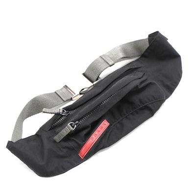 Prada Marsupio Belt Bag in Black Tessuto Nylon