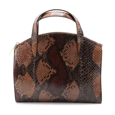 Gucci Multicolor Glazed Python Skin Top Handle Bag