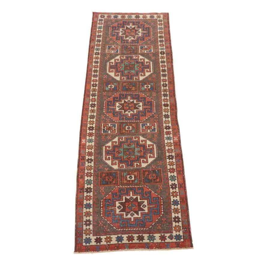 2'11 x 9'2 Hand-Knotted Northwest Persian Heriz Runner Rug